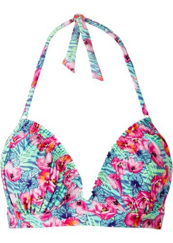 Bikini Top 953680 Push Up Moda Da Bagno Con Allacciatura Al Collo TURCHESE COPPA C