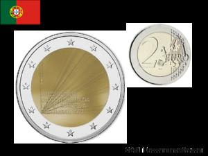 2 Euros Commémorative Portugal 2021 Présidence Européenne UNC
