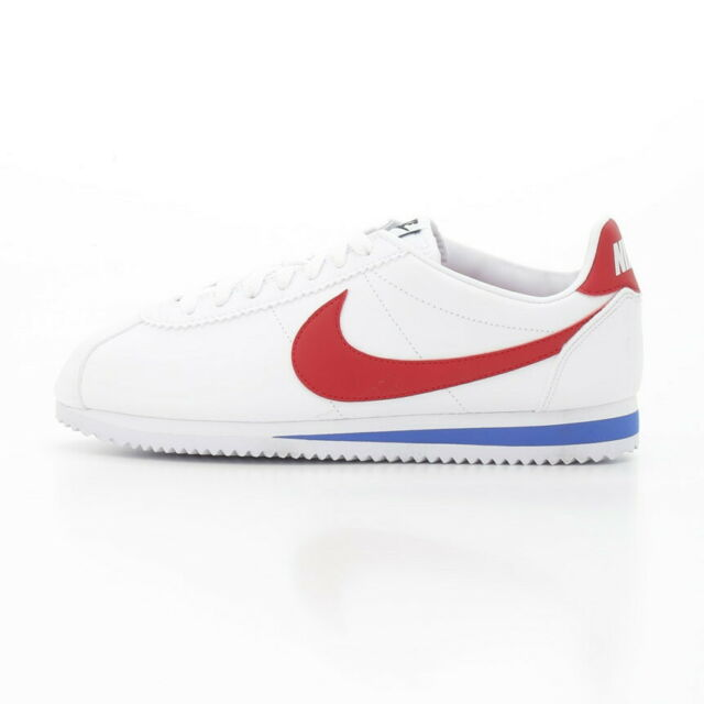Nike Classic Cortez OG Leather Womens Shoes 807471 103 White/Red/Blue New