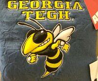 Ga. Tech Yellow Jackets 10 Inch Square Plush Pillow Free Shipping Ramblin Wreck