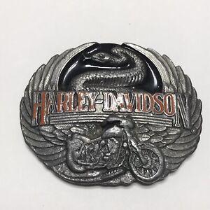 Vintage Harley Davidson Belt Buckle 1991 Harmony Design M 88 Snake Motorcycle Ebay,Design Your Own Cattle Brand