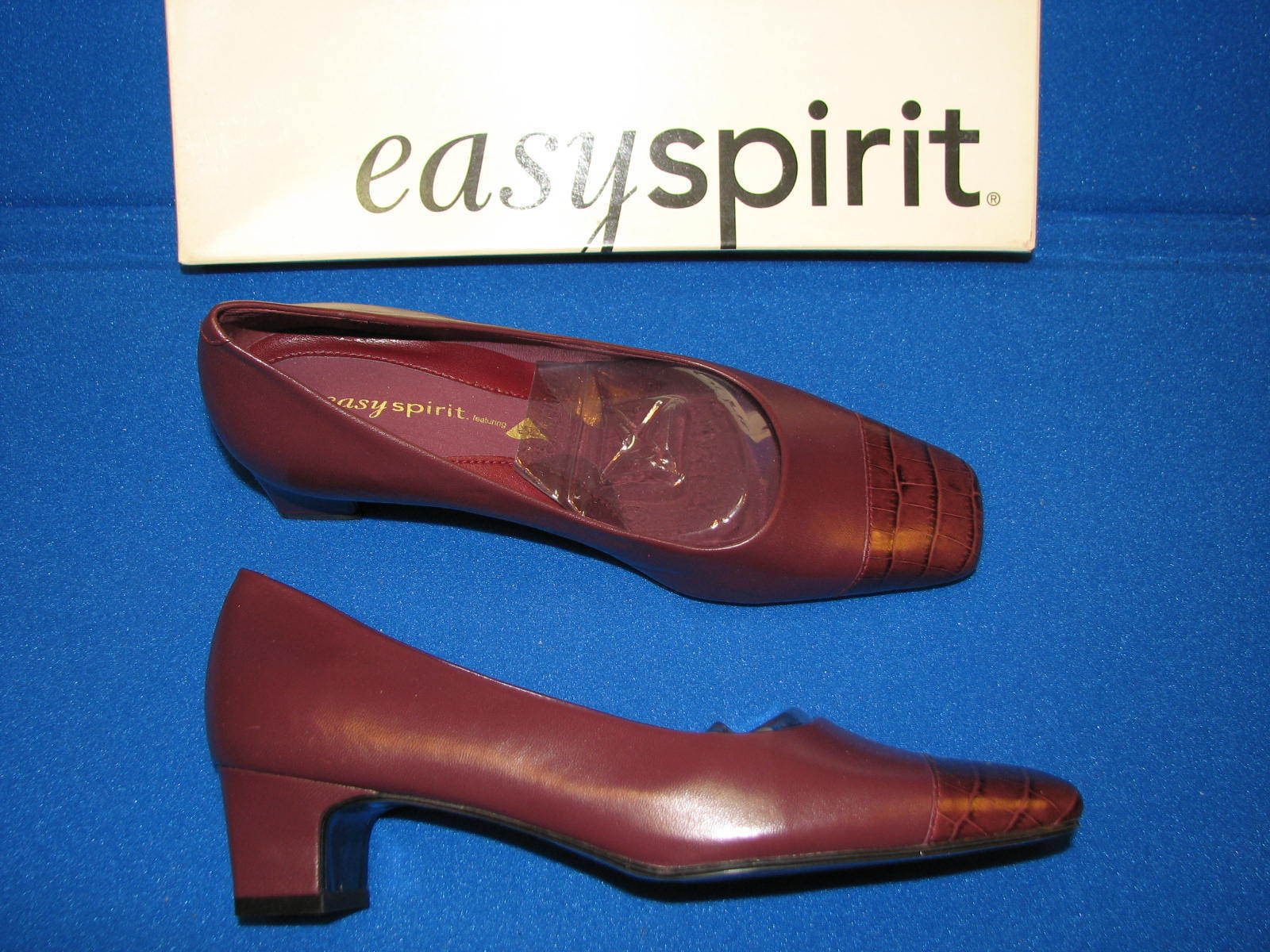 6 M Brown Easy Spirit Waltzs Leather Burgundy Brown M Red Ladies Womens High Heel Pumps a0eaa0