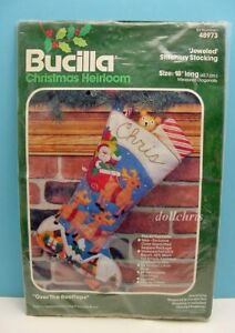 Bucilla-Santa-Over-the-Rooftops-18-034-Stocking-Kit-Felt-Applique-Christmas-48973
