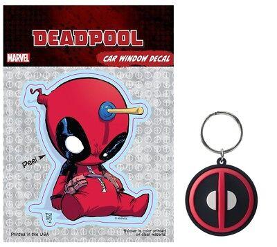 Marvel Comics NEW Key Chain Ring Licensed NIP Deadpool Soft Touch Keychain