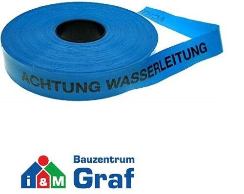 HaWe Trassenwarnband Absperrband Rolle à 250 m verschiedene Texte und Farben