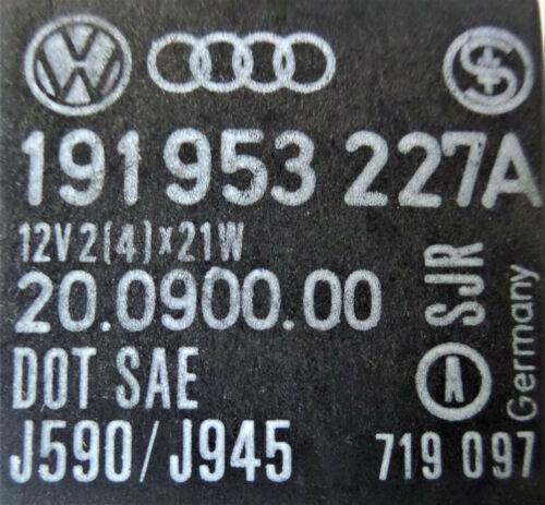 21 191953227A VW Seat Audi Skoda Blinkerrelais Blinkgeber Blinker Relais Nr