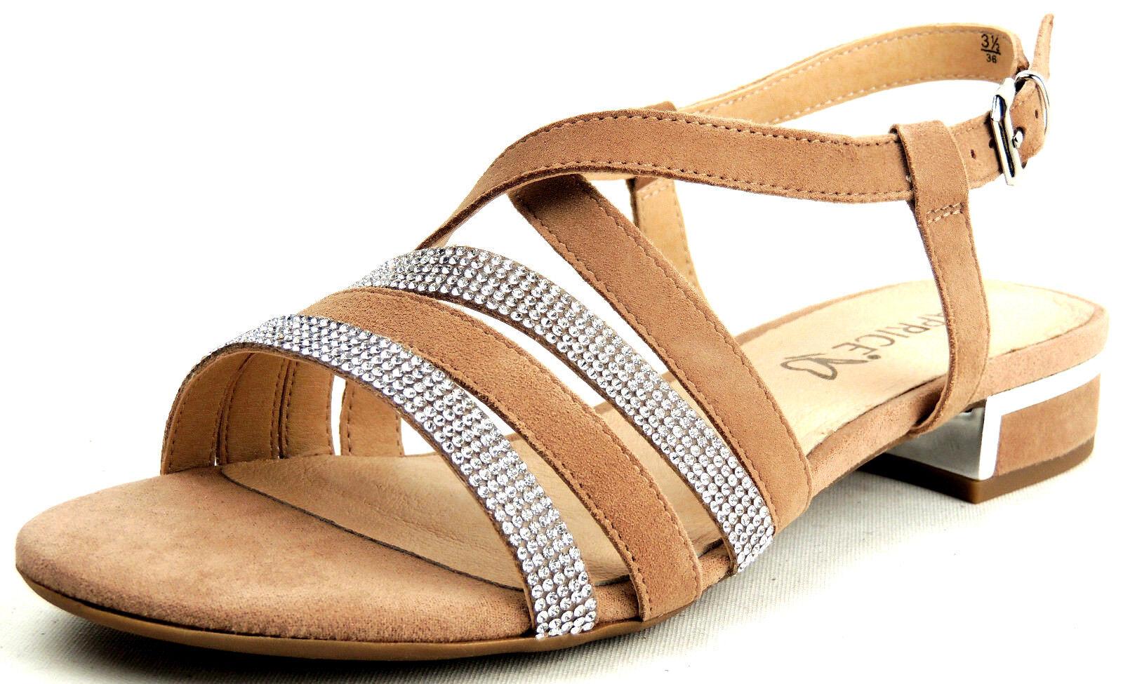 CAPRICE  Damen Sandaleette  LEDER  Weite G  rose/sand  20% ROTUZIERT