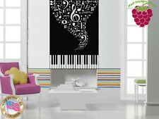 Wall Stickers Vinyl Decal Jazz Piano Sheet Music ig750