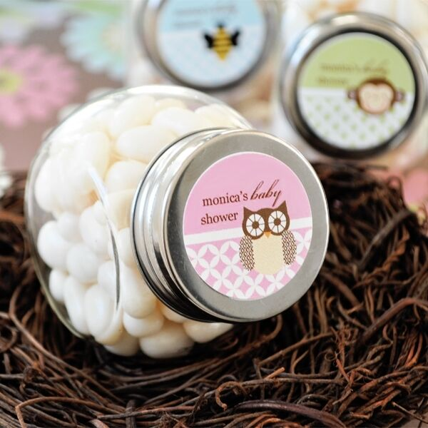 48 Personalized Baby Shower Animal Candy Jars Favors