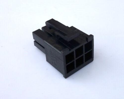 10pcs 5557 6P 6 Pin Male PC Computer PCI-E Power connector plastic shell Black
