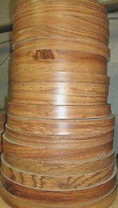 "Oak melamine/polyester edgebanding 7/8"" x 120"" preglued hot melt adhesive rolls"