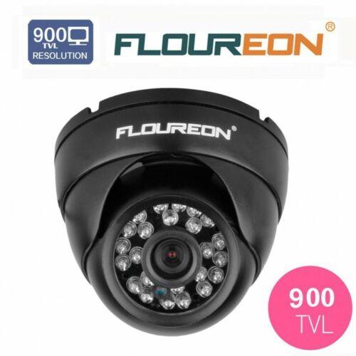 """FLOUREON Lot de 3 Caméra Dôme de Surveillance 900TVL 1//3/"""" 4mm Lentille CMOS Vidé"""
