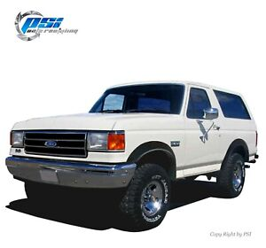 Paintable-Extension-Fender-Flares-Fits-Ford-F-150-F-250-F-350-Bronco-1987-1991