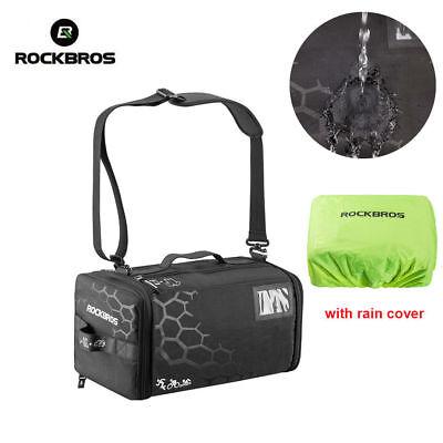 ROCKBROS Triathlon Transition Bag Waterproof  Duffel Holdall 18L with Rain Cover