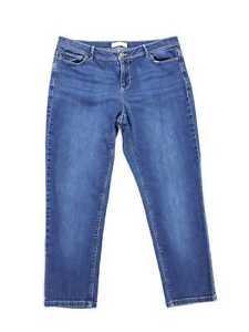 J-Jill-Women-Size-14-Jeans-Slim-Ankle-Denim-Medium-Wash-Inseam-25