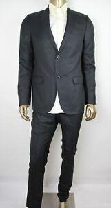 11b1996cc0  2400 Gucci Men Black Monaco Wool Silk Classic Stripe 2 Button Suit ...