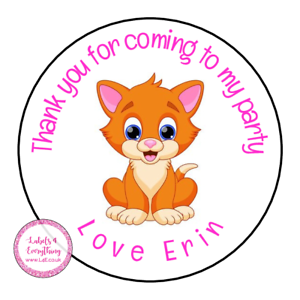 Personalised-Cat-Kitten-Animals-Birthday-Thank-You-Party-Stickers-Sweet-Cones