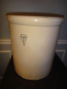 XL 12 Gallon Antique Stoneware Crock Pfaltzgraff York PA Jug Salt ...