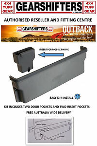 Image is loading OUTBACK-DOOR-POCKETS-TO-SUIT-70-75-76-  sc 1 st  eBay & OUTBACK DOOR POCKETS TO SUIT 70 75 76 78 79 SERIES TOYOTA ...