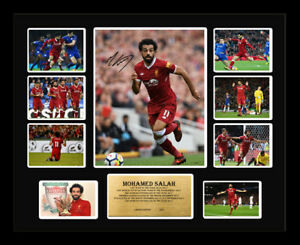 New Mohamed Mo Salah Signed Liverpool Limited Edition Memorabilia Framed