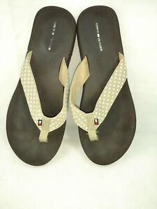 Tommy Hilfiger Womens Sz 10M Flip Flops