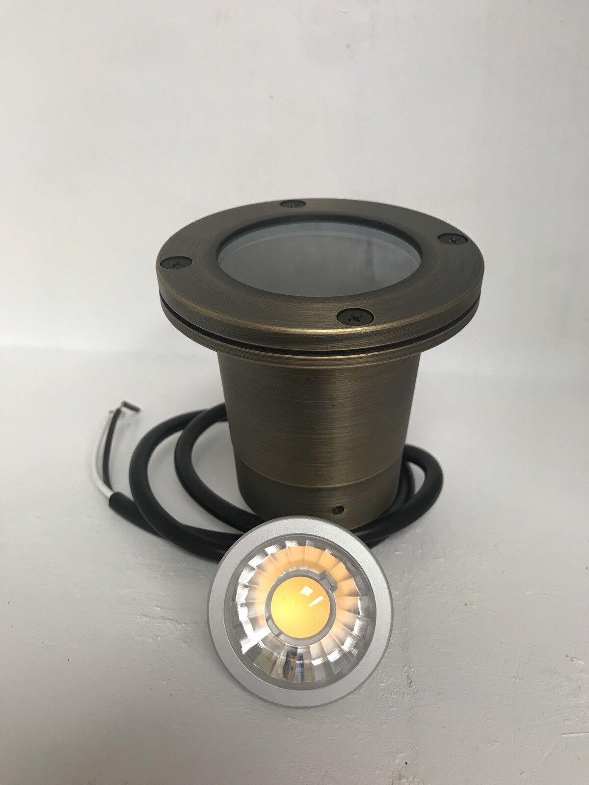 LED Low Voltage Solid brass well light- Outdoor Landscape Lighting W MR16 Bulb