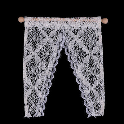 1:12 Dollhouse curtains miniature furniture valance with rod WL