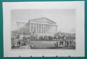 PARIS-Palace-of-Deputies-Views-amp-Plan-3-Three-1821-Cpt-Batty-Antique-Prints