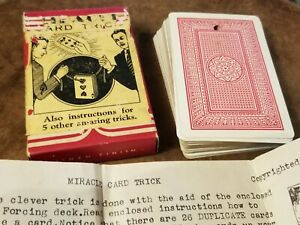 1945-Magic-Trick-Novelty-Miracle-Card-Trick-Deck-of-Cards-and-Box-D-R-amp-Co
