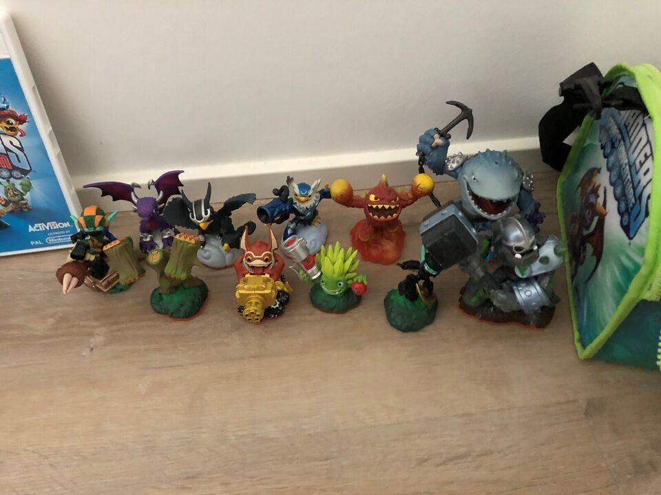Skylander spil, figurer og bæretaske, Nintendo Wii