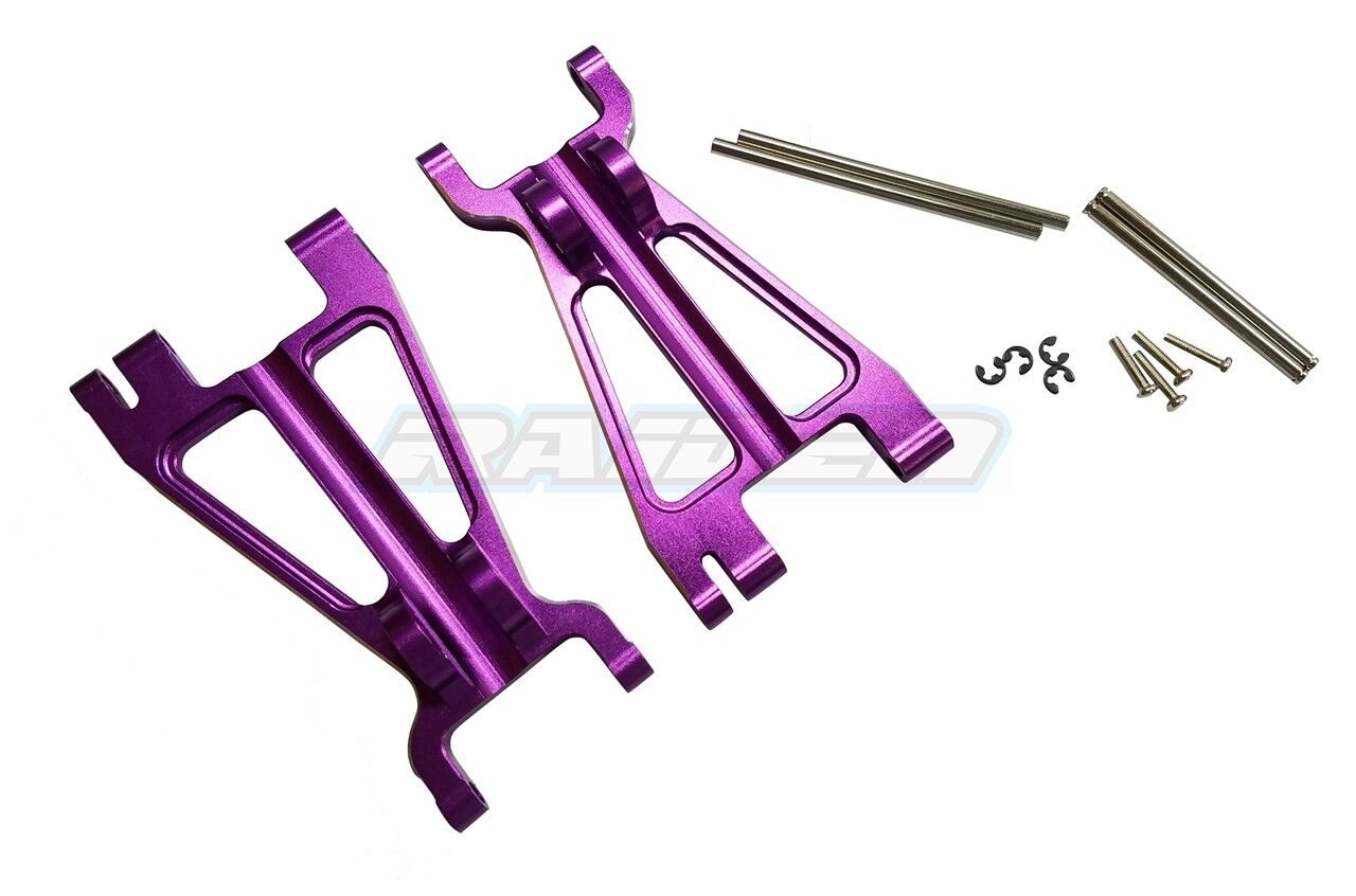 Aluminum Alloy Front   Rear Lower Arm for HPI 1 8 SAVAGE FLUX 4.6 XL X Purple