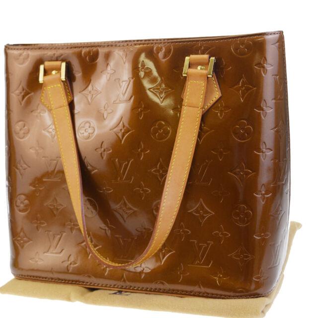 02a2c0ec09ae Auth Louis Vuitton Houston Shoulder Bag Vernis Patent Leather BE M91122  61BC722