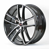 4 Gwg Wheels 20 Inch Black Machined Zero Rims 20x10 Fits Ford Mustang 2005-14