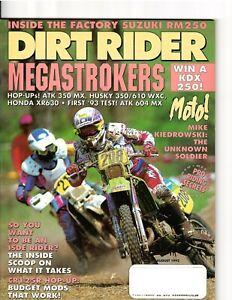 Vintage Magazine Dirt Rider August 1992 Motocross Supercross Guy Cooper Suzuki