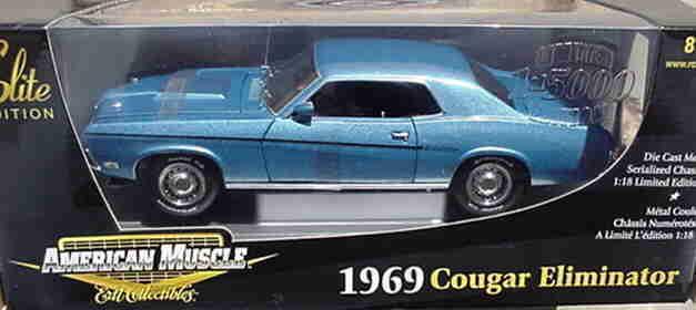 1969 Cougar Eliminator blu 1:18 Ertl American Muscle 33726