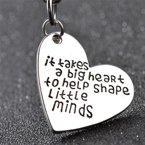 Teachers Gifts Great Teacher Keychain Teaching is a work of Heart Key Ring  X