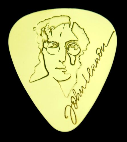JOHN LENNON - Solid Brass Guitar Pick, Acoustic, Electric, Bass