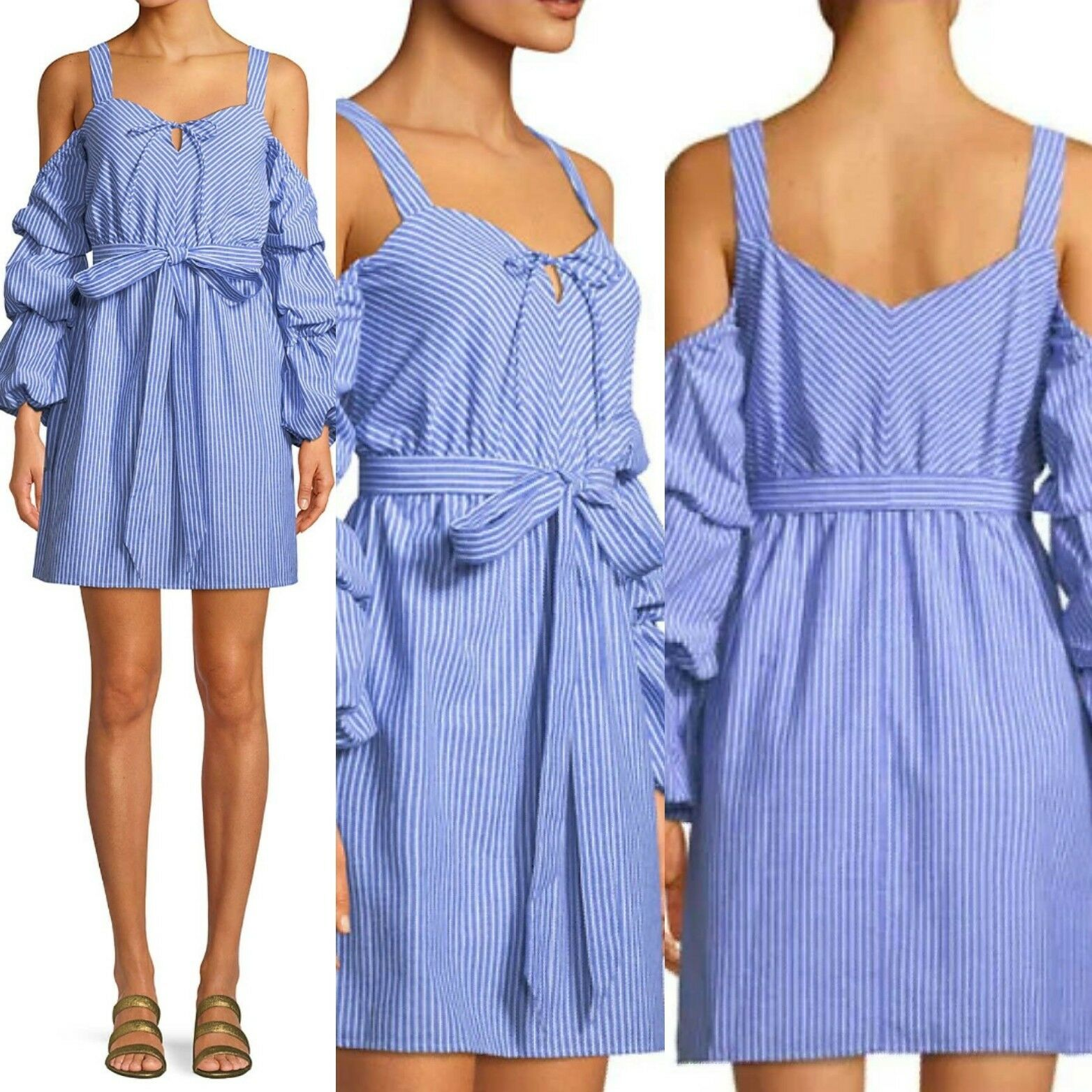 NWT  Alexia Admor Sweetheart Cold-Shoulder Sleeve Dress. SZ L. MSRP