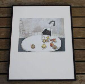 Christiane-Minkenberg-1998-Kunstdruck-ohne-Titel-Glas-mit-Rahmen