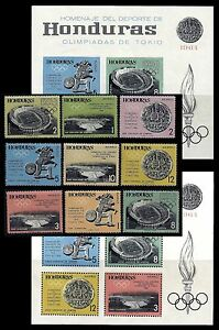 HONDURAS. 18th Olympic Games, Tokyo. 1964 Scott C336-C344+Imperf. MNH (BI#24)