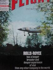 7/1963 PUB ROLLS-ROYCE VTOL ENGINES DASSAULT BALZAC 001 ORIGINAL COVER AD