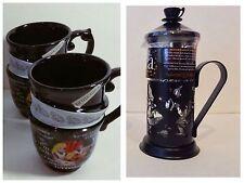 NEW Disney Parks Alice in Wonderland Tea Press + 2 Triple Tea Cups TEA SET