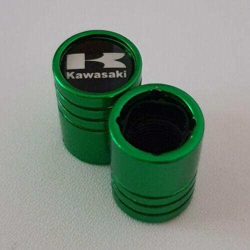 Kawasaki Green DUST VALVE CAPS 13 colours NON STICK for all Models Apico