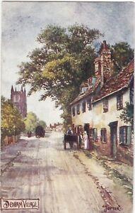 Artist-Drawn-Street-Scene-DEDHAM-Essex-Jotter