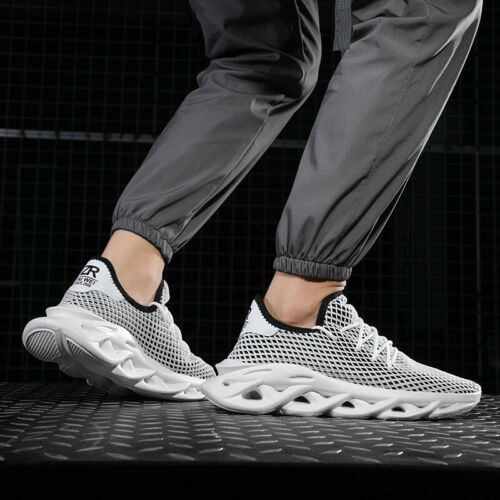 Men Athletic Sneakers Fashion Mesh Breathable Gym Running Walking Casual Shoes