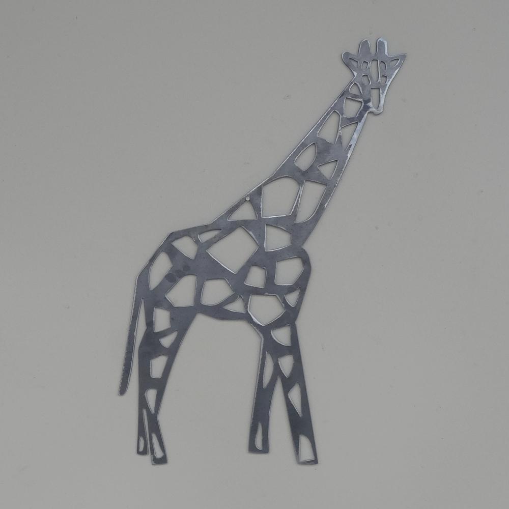 Giraffe Modern Geometric style Wall Art mild steel metal animal gift, many Größes