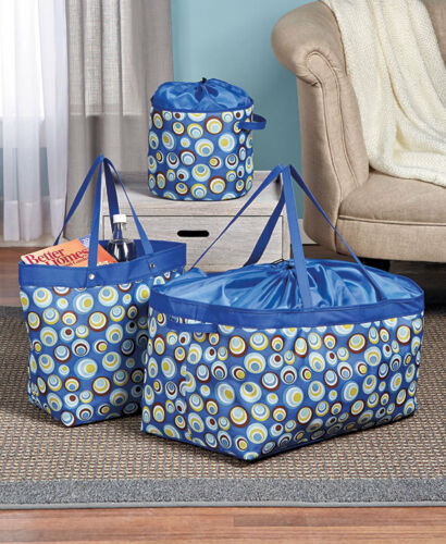3-Pc Multi-Use Storage Bag Sets Multiple Sizes For Laundry And Organization new