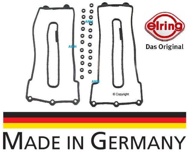 oem Elring Valve Cover Gasket Set (Left & Right Sides) & 22-Grommets for BMW