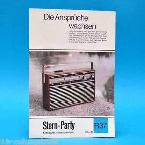 Stern-party-maleta-Super-1970-folleto-publicidad-dewag-consistente-r37-DDR-radio-J