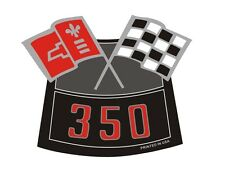350 CHROME AIR CLEANER DECAL CHEVY TRUCK CAMARO CHEVELLE NOVA NEW PRODUCT